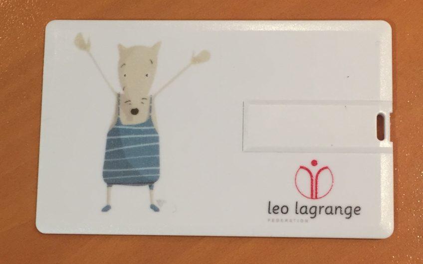 Carte de visite USB Association Léo Lagrange