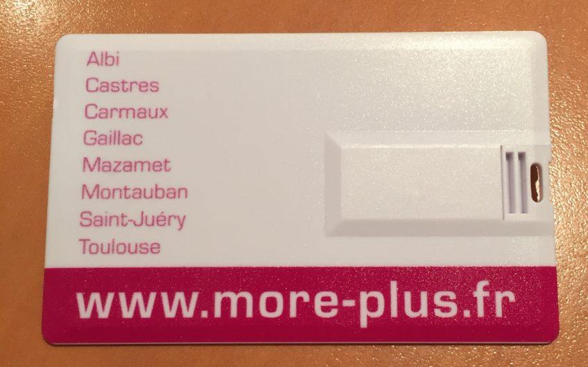 Carte de visite USB Moré verso