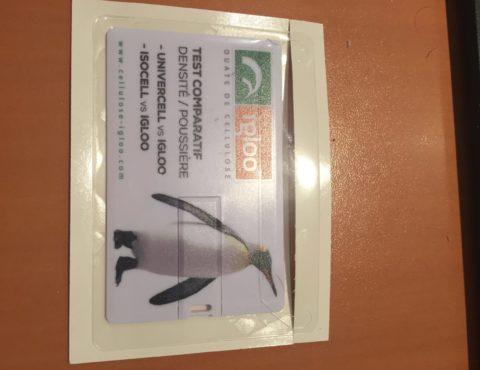 Clé USB carte de visite sous pochette plastique