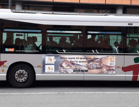 Affiche bus street food peach
