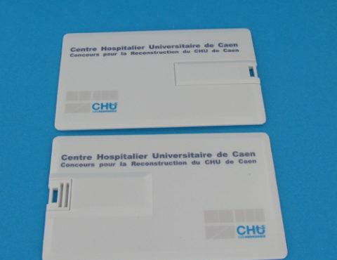 Carte de visite USB centre universitaire hospitalier de Caen