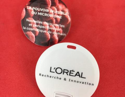 clé usb ronde imprimée l'Oréal