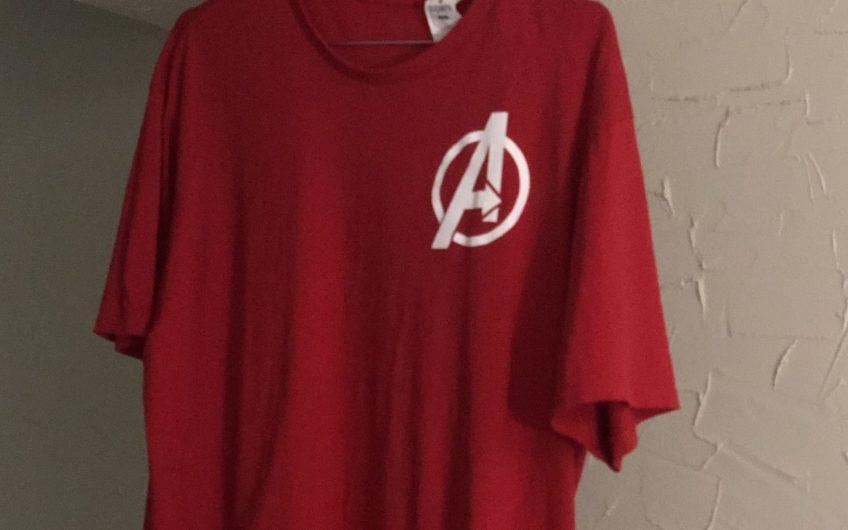 Tee shirt rouge imprimé