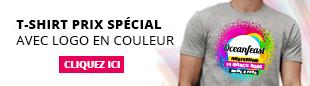 T-Shirt blanc personnalisé en couleur