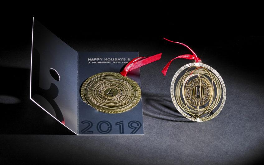 Boule de Noel Lalique  – carte de Voeux