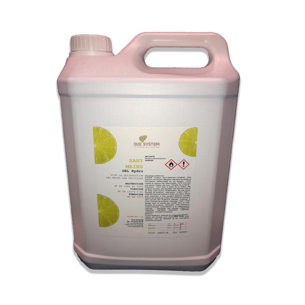 Bidon de 5 litre de gel hydro-alcoolique