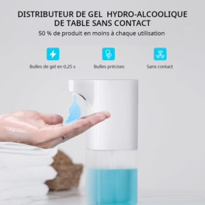 Distributeur de gel sans contact de table