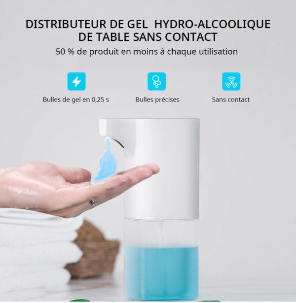 Distributeur de gel sans contact de table